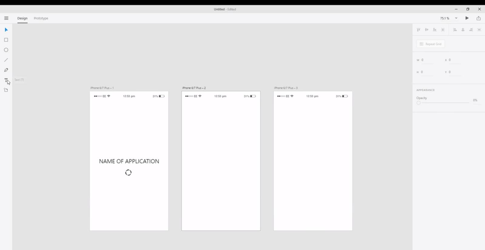 прототипирование с помощью Adobe XD